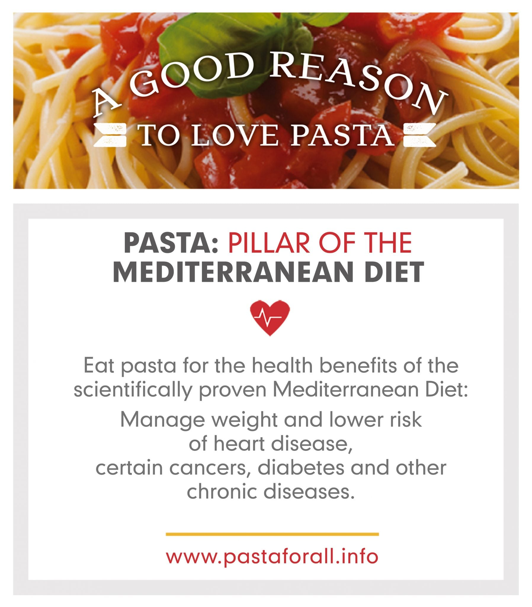 Pasta is the Pillar of the Mediterranean Diet